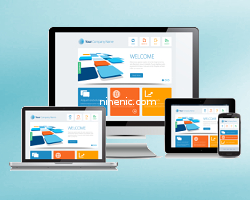 คู่มือเว็บไซต์สำเร็จรูป ninenic - responsive version ใช้งานกับโทรศัพท์มือถือ mobile